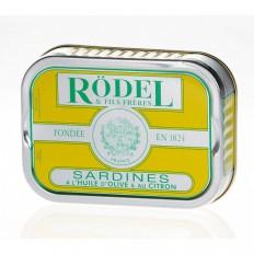 Sardinen in Olivenöl mit Zitronen aus dem Hause Rödel (115g)