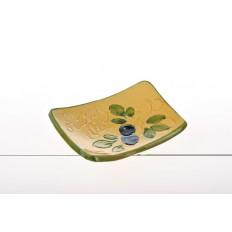 Petite coupelle pose savon Jaune (poterie de Vallauris)