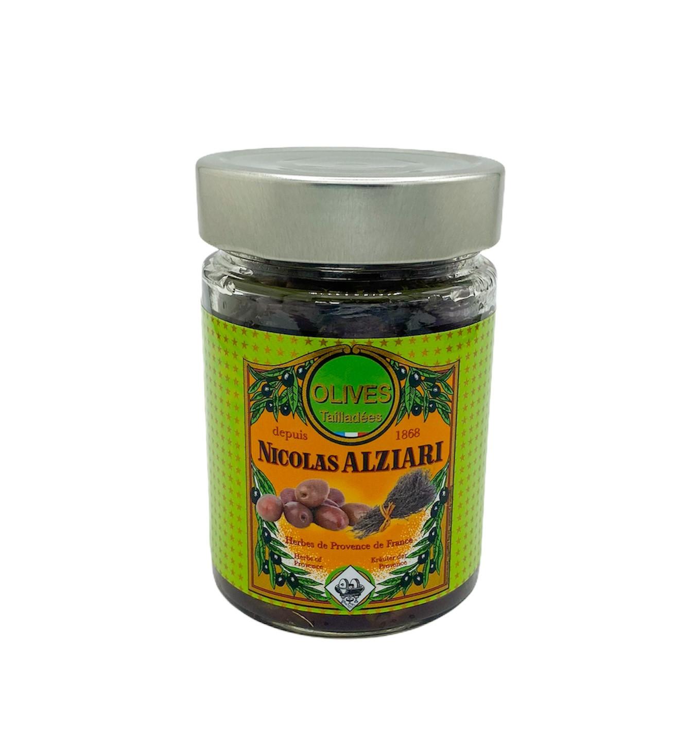 Glas Oliven mit provenzalischen Kräutern  180 g