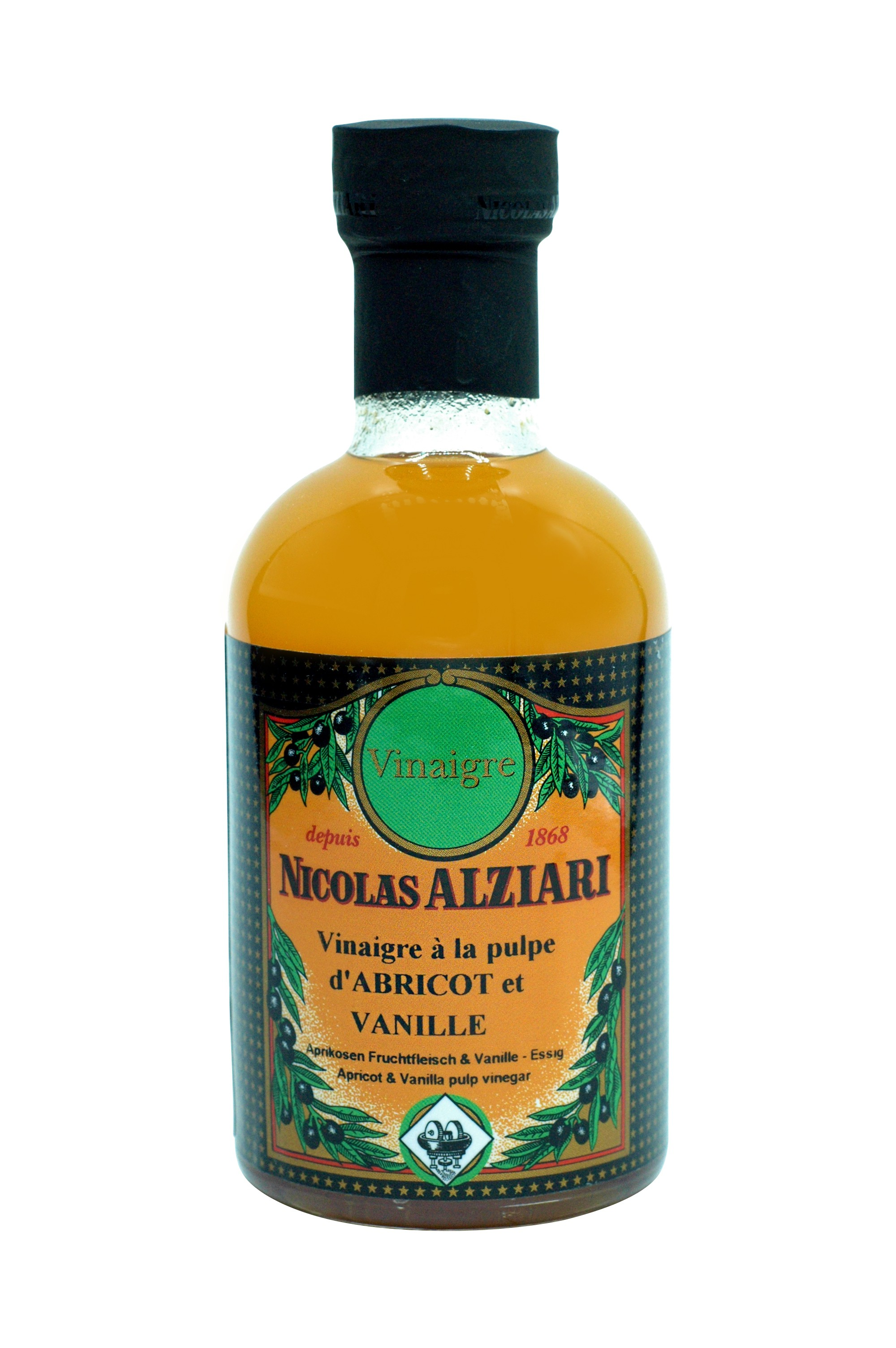200 ml Flasche Aprikosen Fruchtfleisch & Vanille - Essig