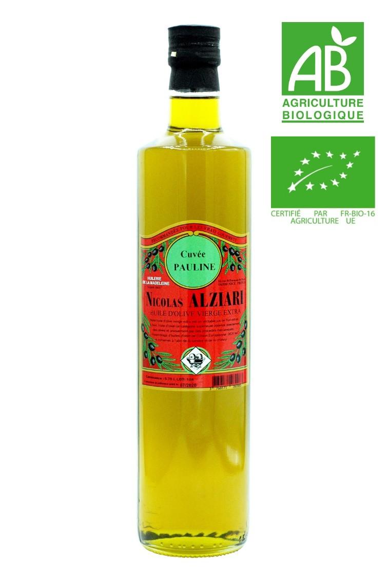 Olivenöl cuvée PAULINE  75 cl - Bio*