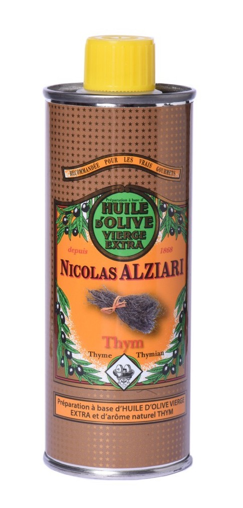 Mit natürlichem Thymianextrakt aromatisiertes Olivenöl für Feinschmecker (250 ml)