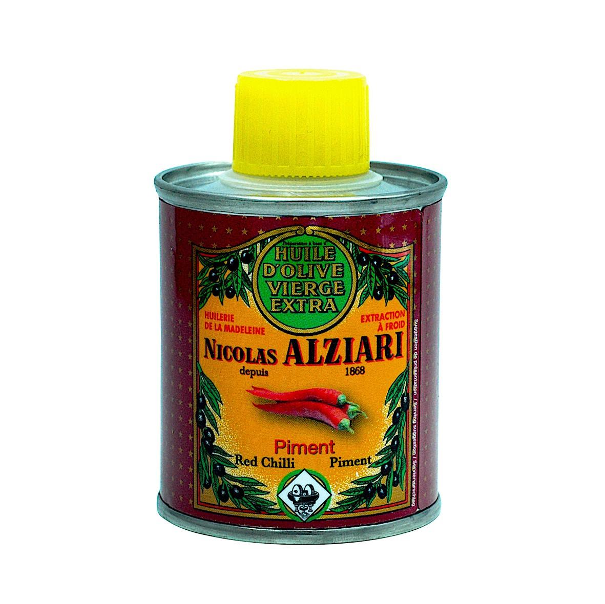 Mit natürlichem Chiliextrakt aromatisiertes Olivenöl für Feinschmecker (100ml)