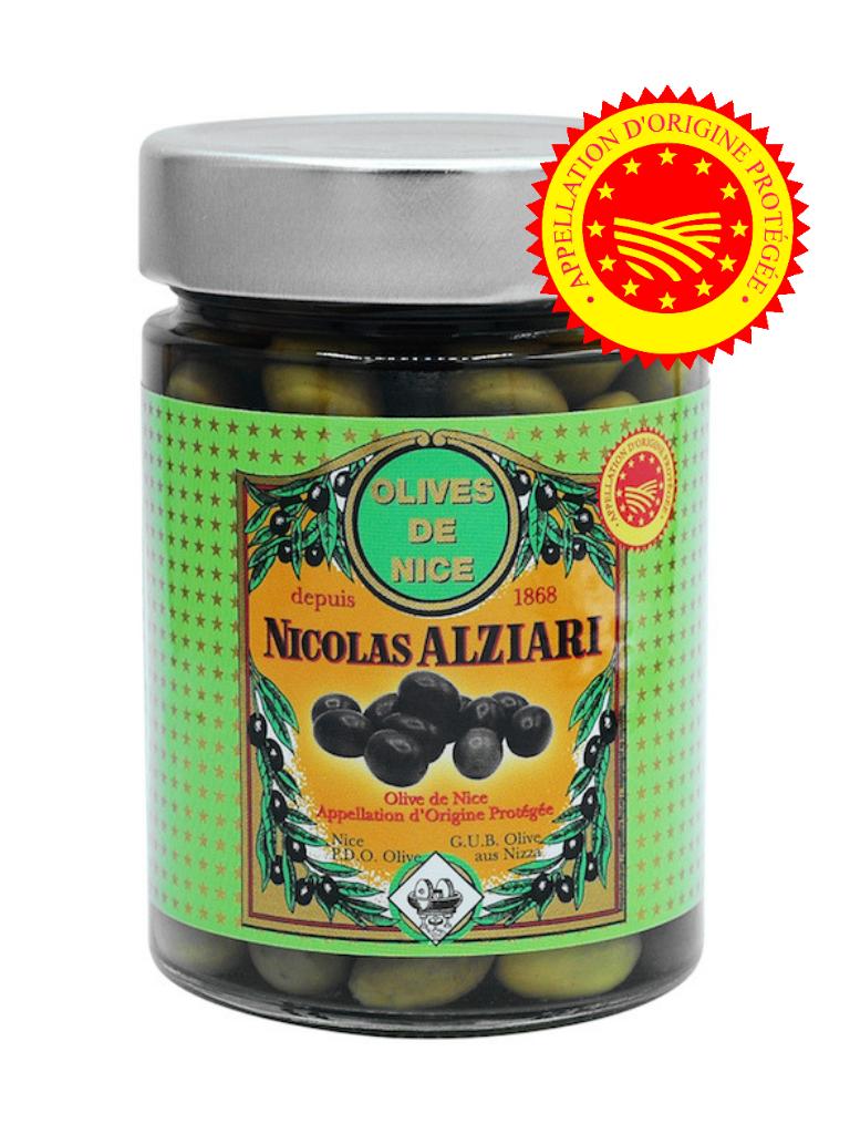 GLAS EINGELEGTE NiZZA-OLIVEN 125 G