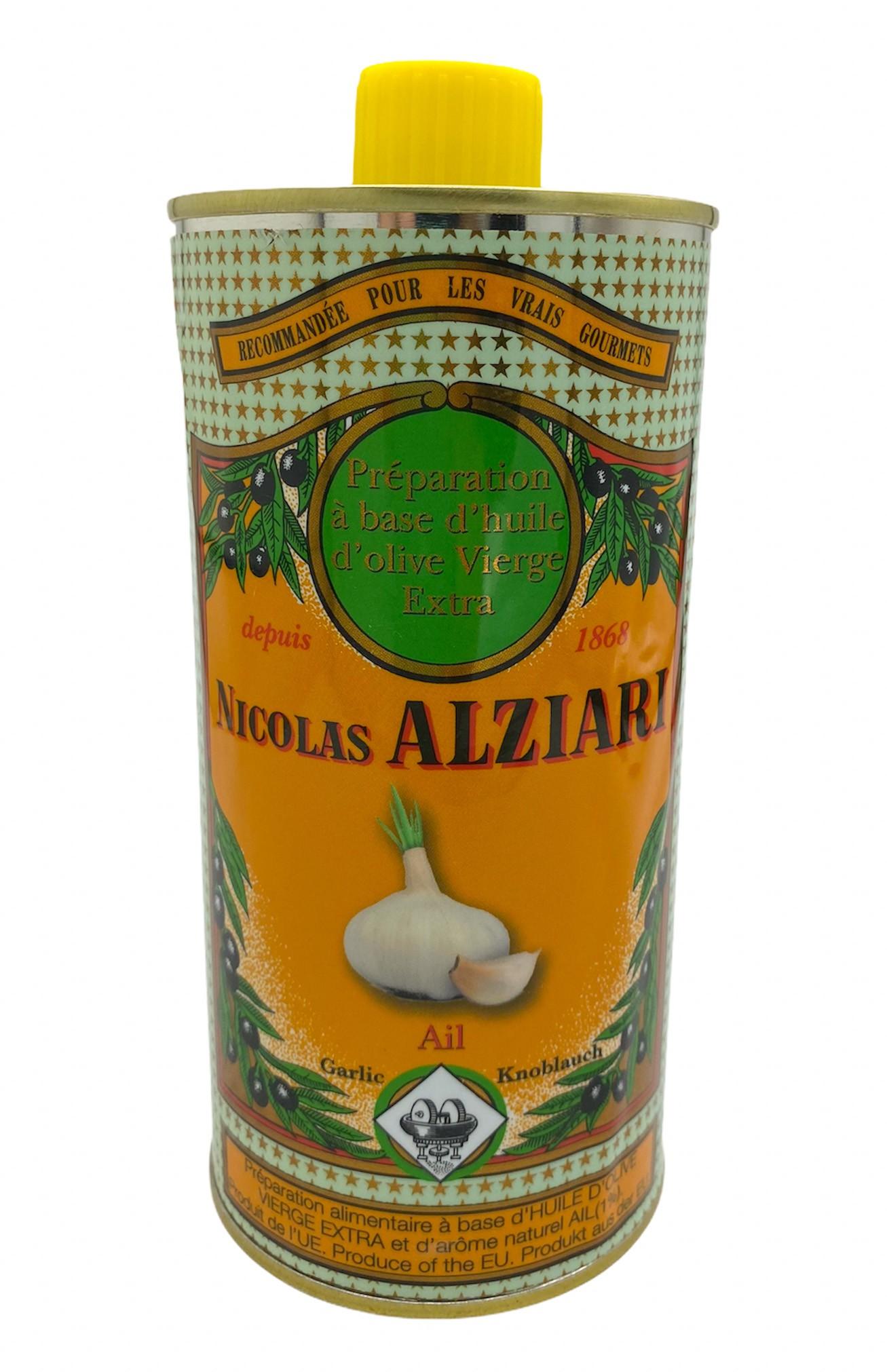 Mit natürlichem Knoblauchextrakt aromatisiertes Olivenöl für Feinschmecker (0,5l)