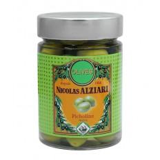 Glas eingelegte grüne Picholine-Oliven 200g