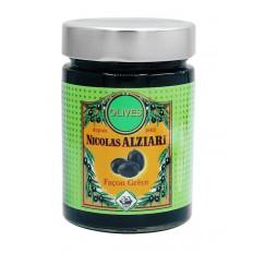 Glas eingelegte schwarze Oliven 220g