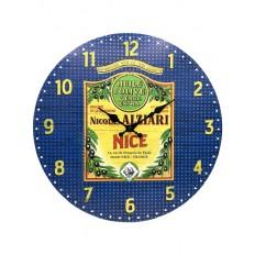 Horloge vintage huile d'olive Nicolas Alziari Nice (34 cm)