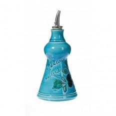 Huilier Pyramide turquoise 15 cm (poterie de Vallauris)