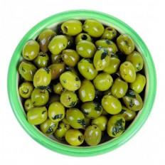 Oliven mit Basilikum und Knoblauch 125gr